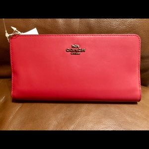 Coach Red Leather Wallet (New)